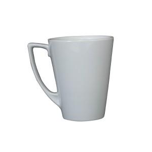 Angled Latte Mug & Saucer