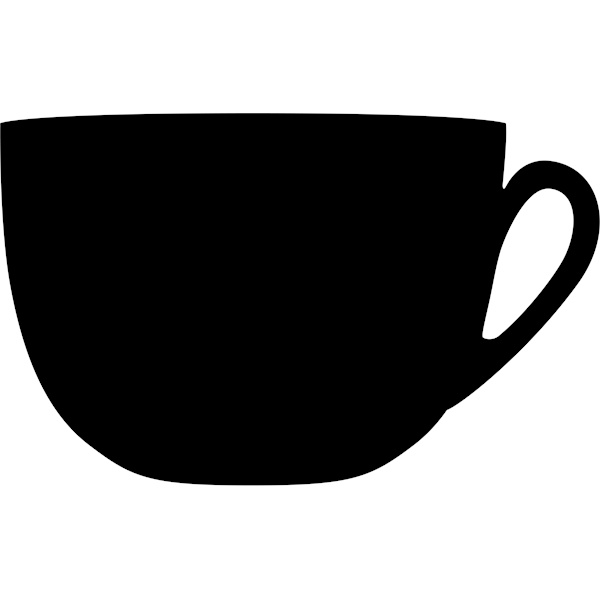 Coffee Cup Silhouette Wall Chalk Board - Cleanwipes Ltd
