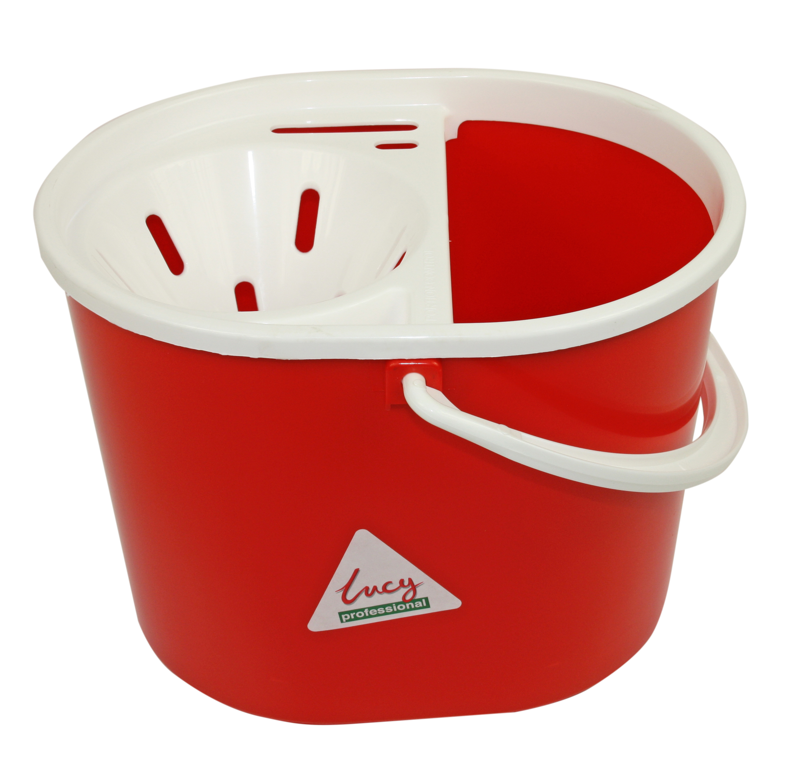 Lucy Oval Mop Bucket Red Cleanwipes Ltd