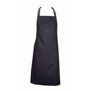Bib Apron With Pocket- Black