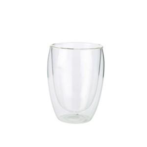 Double Walled Coffee Glass 350ml 8 X 11cm