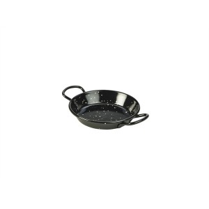 Black Enamel Miniature Paella Pan 10cm