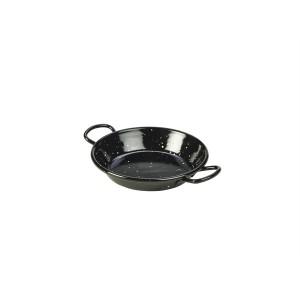 Black Enamel Miniature Paella Pan 12cm