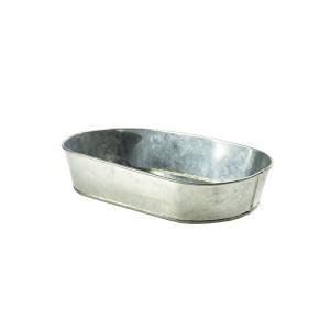 Galvanised Steel Serving Platter 24 x 15cm