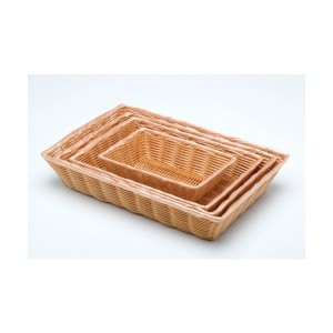 Rectangular Polywicker Basket 10 x 7 x 2.5""