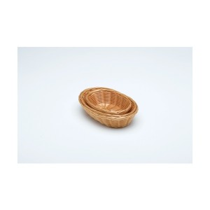 Oval Polywicker Basket 9 x 6 x 2.25""
