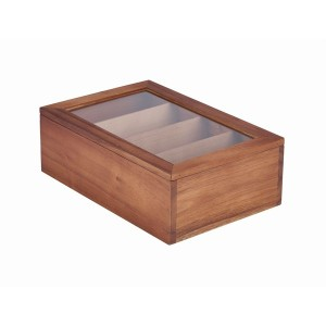 Acacia Wood Tea Box 30 x 20 x 10cm